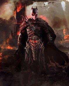 """The Dark Knight of Mordor"" Art by Mark Buenaventura #Batman #DarkKnight #Redesign #JusticeLeague #DawnOfJustice #DC #DCComics #Comics #ConceptArt #Art #Artist #Superhero by devilzsmile.com #devilzsmile"