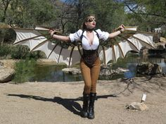 Steampunk DaVinci Style Articulating Wings by TheCrookedFeather