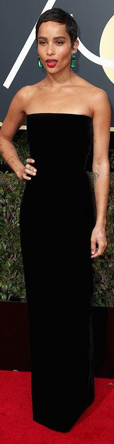 Zoe Kravitz In Saint Laurent at the 2018 Golden Globes