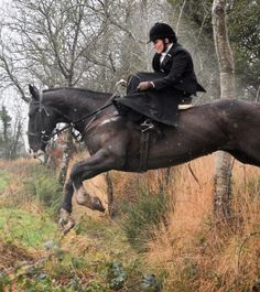 Side saddle in the field