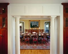 arched doorways with moulding