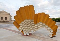 JANET LOFQUIST - 'Hive' public art, Delmar Transit Station, St. Louis, Missouri.