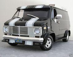 "1 18 Highway 61 ""Chevy SS 350 Custom Van 1974"" Retro Hot Rod Black V RARE 16 | eBay"
