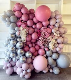 dusty rose and dusty blue balloons wedding backdrop decor ideas 4 Wedding Balloon Decorations, Backdrop Decorations, Wedding Balloons, Birthday Balloons, Backdrops, Birthday Parties, Decoration Party, 21st Birthday, Balloon Backdrop
