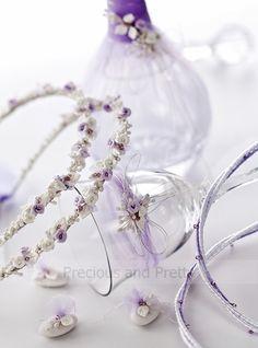 Greek wine decanter set and crowns Stephana with lavender flowers. Lavender Wedding Theme, Lavender Decor, Lavender Flowers, Floral Wedding, Wedding Favors, Wedding Decorations, Wedding Crowns, Wedding Ideas, Wine Decanter Set