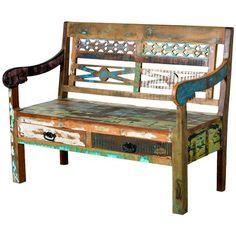Sitzbank im Vintage-Design ♥ ab 459,00€ ♥ Hier kaufen:  http://stylefru.it/s278817 #vintage #home #style