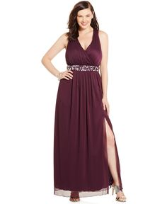 Trixxi Plus Size Embellished Surplice Empire Dress - Dresses - Plus Sizes - Macy's