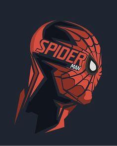 Dibujo máscara cabeza Spiderman