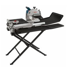 Shop Bosch Wet Tile and Stone Saw with Folding Stand at Lowe's Canada. Find our selection of concrete saws at the lowest price guaranteed with price match. Water Tray, Bosch Tools, Side Extension, Tile Saw, Concrete Tiles, Work Surface, Drafting Desk, Home Improvement, Stone