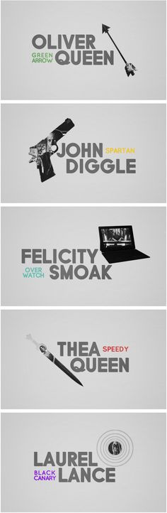 #Arrow #TeamArrow | weapon of choice theme