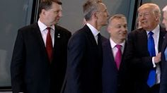 (6) Raw: Trump Pushes Past Montenegro PM at NATO - YouTube