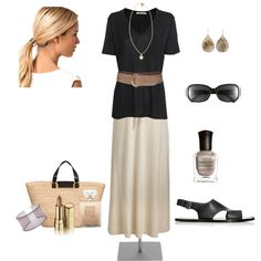I know, again with the long skirt, but it's so chic. thanks gretchen
