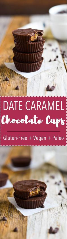 Creamy, healthy date caramel packed inside rich, dairy free chocolate. A healthy treat that is dairy free, gluten free + paleo!