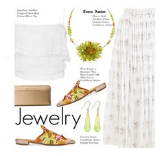 """""""TsarsAmber Jewelry"""" by beebeely-look ❤ liked on Polyvore featuring Emilia Wickstead, Jonathan Simkhai, MICHAEL Michael Kors, Beau Coops, preppy, jewelry, summerstyle, mules and TsarsAmber"""