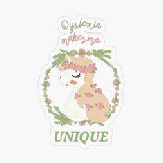 Little Unicorn, Kids Stickers, Dyslexia, Transparent Stickers, Little Girls, Finding Yourself, My Arts, Club, Art Prints