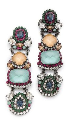 love these colors together! // Erickson Beamon Modern Moghul Drop Earrings
