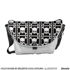 JOLLY ROGER BY EKLEKTIX COOL OUTLAW GEAR COURIER BAG