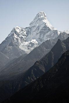 "rorschachx: "" Ama Dablam mountain, Nepal Himalayas | image by Denis Messié """