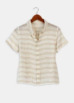 Mia Striped Button Down Linen ShirtMia Striped Button Down Linen Shirt