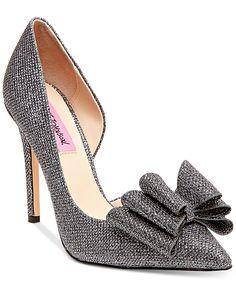 Betsey Johnson Prince d'Orsay Evening Pumps - Designer Shoe Shop - Shoes - Macy's