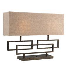 "Woodbridge Lighting Twin 18.75"" H Table Lamp with Rectangular Shade"