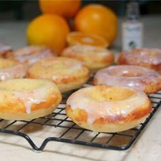 Baked Orange and Buttermilk Donuts via Love in the Kitchen