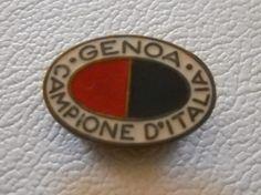 calcio distintivo spilla Genoa Campione d Italia   old pin  badge football