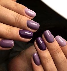 Purple Nail Designs, Fall Nail Art Designs, Colorful Nail Designs, Cute Nails, Pretty Nails, My Nails, Purple Gel Nails, Plum Nails, Shellac Nail Colors