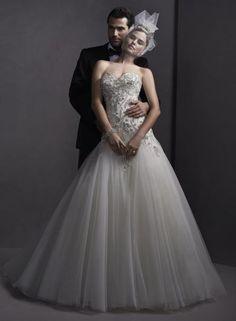 Sottero Midgley ROWAN - Pre tie najnáročnejšie nevesty sú tu super luxusné  svadobné šaty s tylovou sukňou f596be422df