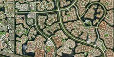 Die planmäßig angelegte Wohnstadt Weston entstand durch Aufschütten inselartiger Stadtteile im Sumpfgebiet Floridas in direkter Nachbarschaf... Political Issues, Florida Usa, Footprint, City Photo, Times, Contemporary, Photos, Abstract Pattern, National Forest