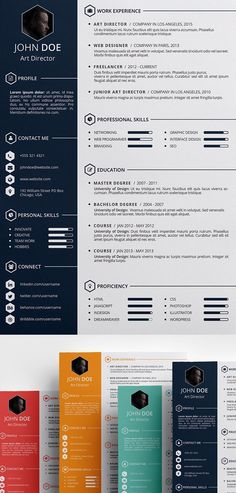 Free Creative #Resume #Template (PSD, ID)