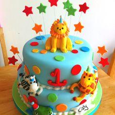 Jungle birthday cake Diego birthday party idea