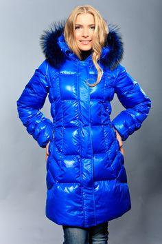 Fur hood and down coat