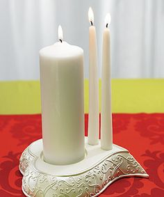 A romantic unity candle holder and can be a home decoration after wedding ceremony.