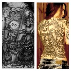 Amazing Nightmare Before Christmas tattoo