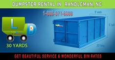 Randleman, NC at EasyDumpsterRental Dumpster Rental in Randleman, NC Get Beautiful Service & Wonderful Bin Rates How We Provide Spectacular Roll Off Service In Randleman: We have leased tens of thousands of containers in the last decade and a half. And many of these bin-rentals are repeat customers. They come back to us... https://easydumpsterrental.com/north-carolina/dumpster-rental-randleman-nc/
