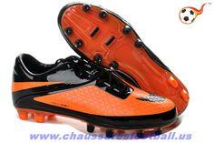 0ed400793 Nike HyperVenom Phatal FG Noir Orange Citrus FT5971 Football Shoes