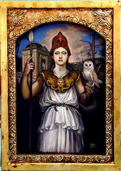 Patrick McGrath Muñiz: Athena and her owl