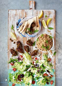 Jamie Oliver - Lamb Kofte, pitta and Greek salad  - delicious. Amazing flavour.