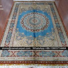 5.5x8ft(168x244cm),Persian carpet,silk, hand knotted