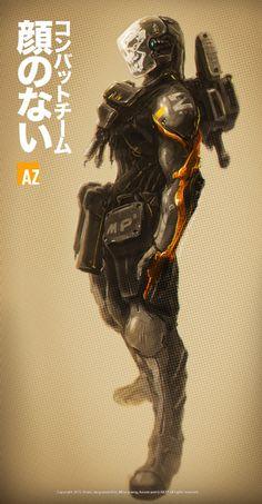 ArtStation - Ghost troopers, by Jang wook KimMore robots here.