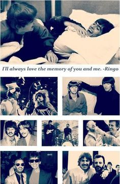 George and Ringo | I'll always love the memory of you and me. ~ Ringo Starr