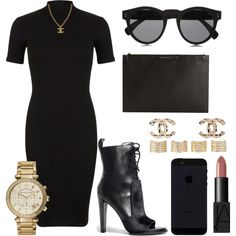 A fashion look from August 2015 featuring Miss Selfridge dresses, Alexander Wang ankle booties and Givenchy clutches. Browse and shop related looks.