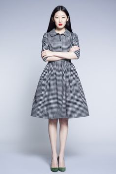 Lovely checked dress!