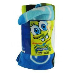 Officially Licensed Nickelodeon Fleece Throw Blanket - SpongeBob Squarepants @ niftywarehouse.com