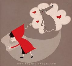 Red Riding Hood - by Javier Coria Red Riding Hood Wolf, Little Red Ridding Hood, Graphic Design Illustration, Illustration Art, Famous Fairies, Charles Perrault, Serpentina, Big Bad Wolf, Wolf Moon