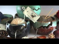 Video of Beautiful Ceramic Yarn Bowls from Bridges Pottery. Artisan Yarn Bowls you won't want to miss