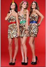 DAC1182 Kostenloser Versand Leopardenmuster Schärpe Dekoration Sexy Mini Cocktailkleid //Price: $US $119.00 & FREE Shipping //     #abendkleider