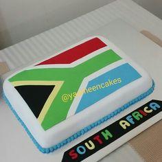 South africa flag cake Flag Cake, Cake Bunting, 7th Birthday, Birthday Cakes, Birthday Parties, Africa Cake, Cake Eater, South African Flag, Africa Flag