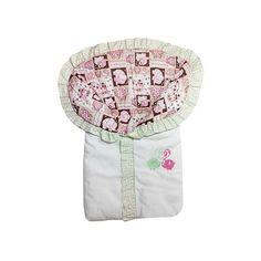 Mamãe Querida: Saco de dormir para bebê bordado elefantinho apaixonado